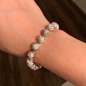 Kendra Scott Marble and Rose Gold Bracelet